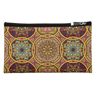 Vintage patchwork with floral mandala elements cosmetics bags