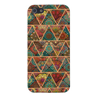 Vintage patchwork with floral mandala elements cover for iPhone 5/5S
