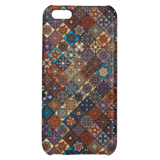 Vintage patchwork with floral mandala elements cover for iPhone 5C