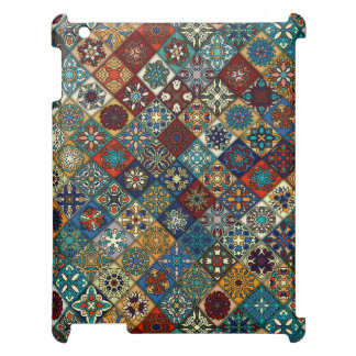 Vintage patchwork with floral mandala elements cover for the iPad