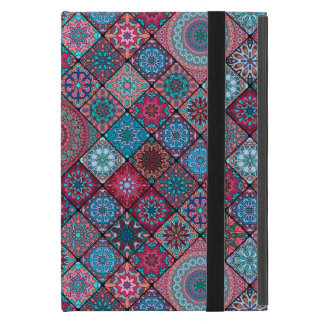 Vintage patchwork with floral mandala elements covers for iPad mini