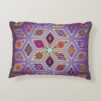 Vintage patchwork with floral mandala elements decorative pillow