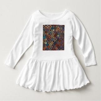 Vintage patchwork with floral mandala elements dress