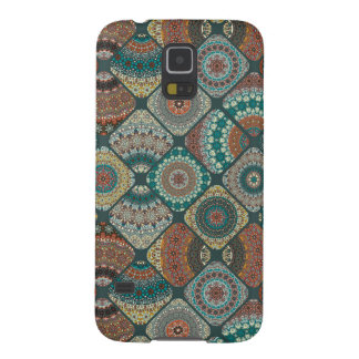 Vintage patchwork with floral mandala elements galaxy s5 cases