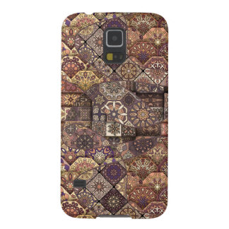 Vintage patchwork with floral mandala elements galaxy s5 cover