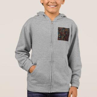 Vintage patchwork with floral mandala elements hoodie