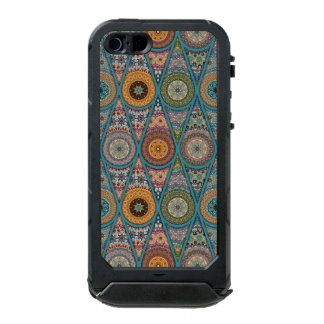 Vintage patchwork with floral mandala elements incipio ATLAS ID™ iPhone 5 case