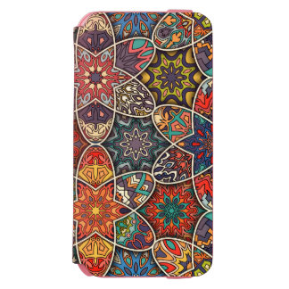 Vintage patchwork with floral mandala elements incipio watson™ iPhone 6 wallet case
