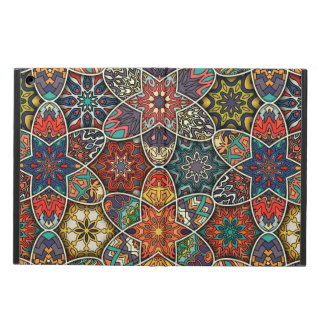Vintage patchwork with floral mandala elements iPad air case