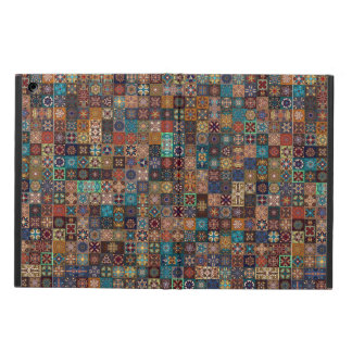 Vintage patchwork with floral mandala elements iPad air cover