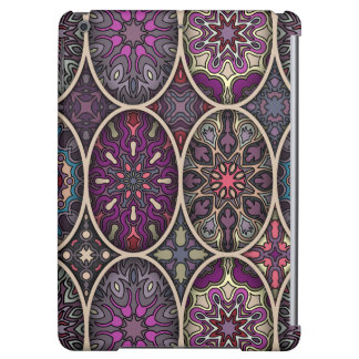 Vintage patchwork with floral mandala elements iPad air covers