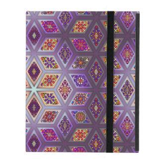 Vintage patchwork with floral mandala elements iPad case