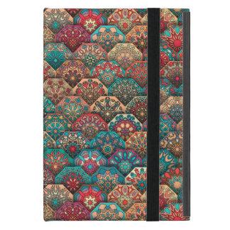Vintage patchwork with floral mandala elements iPad mini case