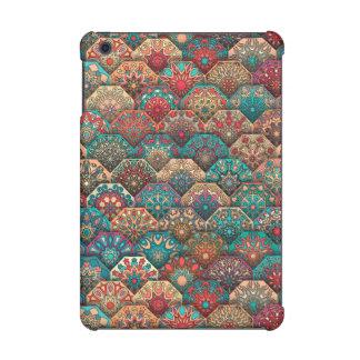 Vintage patchwork with floral mandala elements iPad mini cases