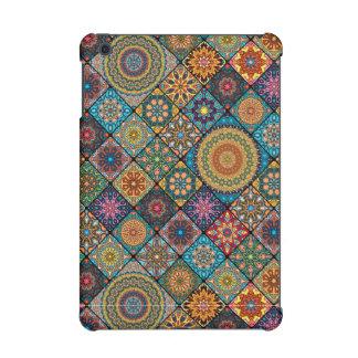Vintage patchwork with floral mandala elements iPad mini retina case