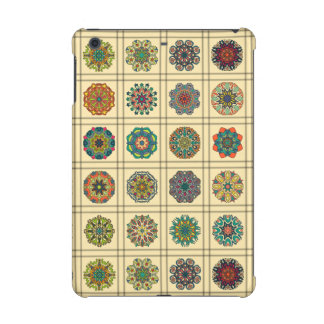 Vintage patchwork with floral mandala elements iPad mini retina cases
