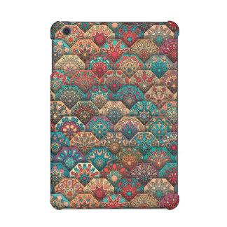 Vintage patchwork with floral mandala elements iPad mini retina cases