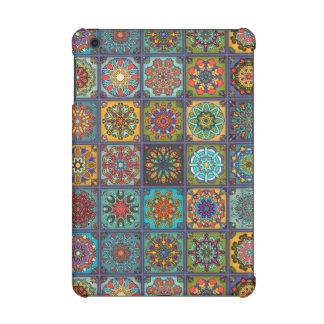 Vintage patchwork with floral mandala elements iPad mini retina cover