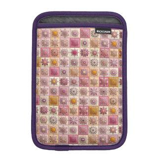 Vintage patchwork with floral mandala elements iPad mini sleeve