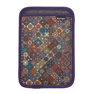 Vintage patchwork with floral mandala elements iPad mini sleeves
