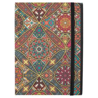 "Vintage patchwork with floral mandala elements iPad pro 12.9"" case"