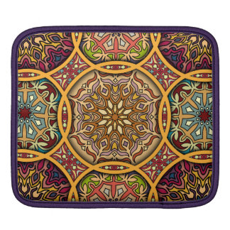 Vintage patchwork with floral mandala elements iPad sleeve