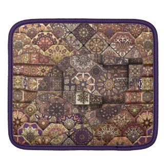 Vintage patchwork with floral mandala elements iPad sleeves