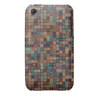 Vintage patchwork with floral mandala elements iPhone 3 covers