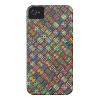 Vintage patchwork with floral mandala elements iPhone 4 case