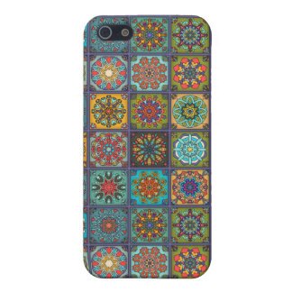 Vintage patchwork with floral mandala elements iPhone 5/5S cover