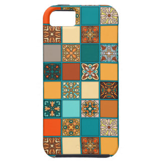 Vintage patchwork with floral mandala elements iPhone 5 case