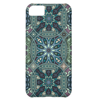 Vintage patchwork with floral mandala elements iPhone 5C cover