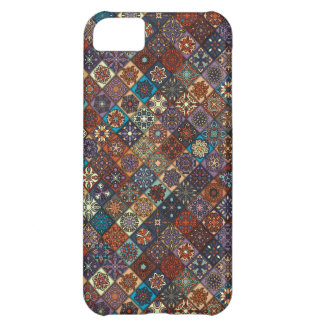 Vintage patchwork with floral mandala elements iPhone 5C covers