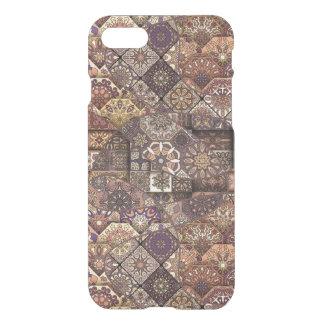 Vintage patchwork with floral mandala elements iPhone 7 case