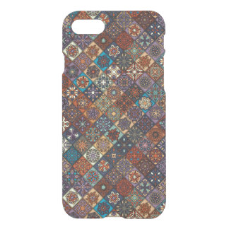 Vintage patchwork with floral mandala elements iPhone 7 case