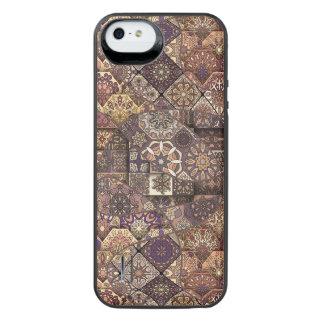 Vintage patchwork with floral mandala elements iPhone SE/5/5s battery case