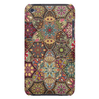 Vintage patchwork with floral mandala elements iPod touch cover