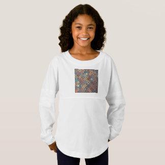 Vintage patchwork with floral mandala elements jersey shirt