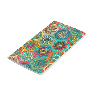 Vintage patchwork with floral mandala elements journal