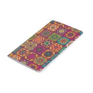 Vintage patchwork with floral mandala elements journal