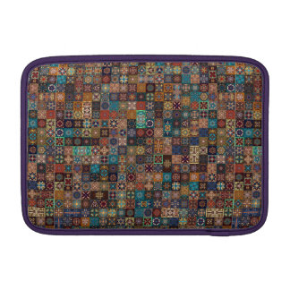 Vintage patchwork with floral mandala elements MacBook sleeves