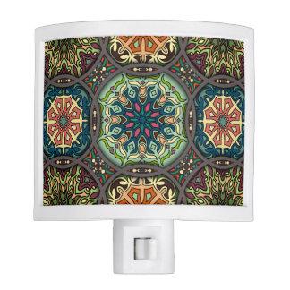 Vintage patchwork with floral mandala elements nite lites
