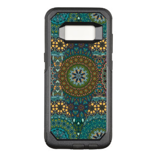 Vintage patchwork with floral mandala elements OtterBox commuter samsung galaxy s8 case