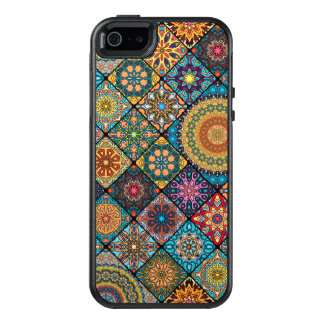 Vintage patchwork with floral mandala elements OtterBox iPhone 5/5s/SE case