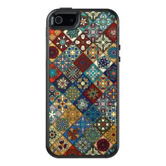 Vintage patchwork with floral mandala elements OtterBox iPhone 5/5s/SE case