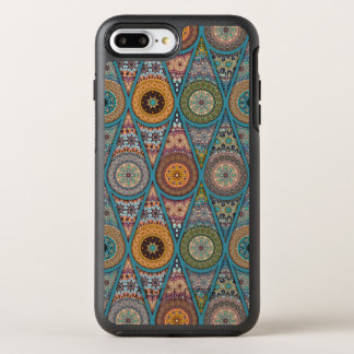 Vintage patchwork with floral mandala elements OtterBox symmetry iPhone 8 plus/7 plus case