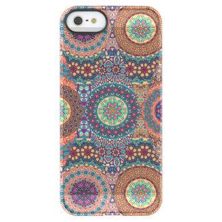 Vintage patchwork with floral mandala elements permafrost® iPhone SE/5/5s case