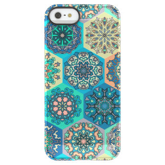 Vintage patchwork with floral mandala elements permafrost® iPhone SE/5/5s case