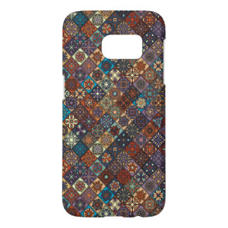 Vintage patchwork with floral mandala elements samsung galaxy s7 case