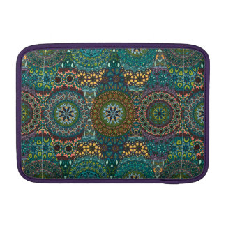 Vintage patchwork with floral mandala elements sleeve for MacBook air